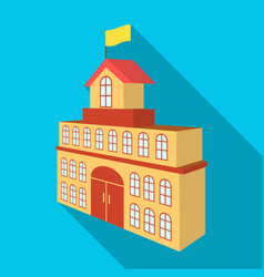 The building of the town hall city hall building vector