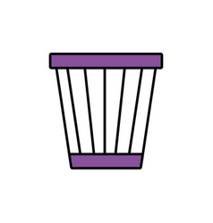 trash bucket icon vector image vector image