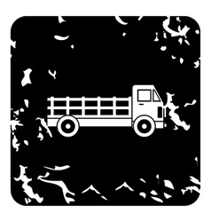 Truck icon grunge style vector