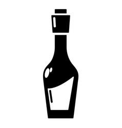 Vinegar bottle icon simple style vector