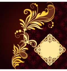 Vintage frame on seamless background vector image vector image
