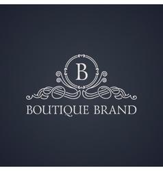 Vintage luxury emblem elegant calligraphic vector