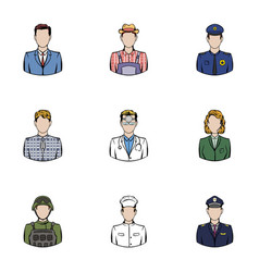 Work icons set cartoon style vector