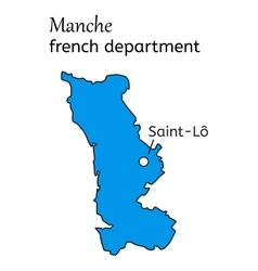 Manche french department map vector