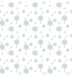 Seamless blue pattern with snowflakes vector