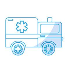 Shadow ambulance car cartoon vector