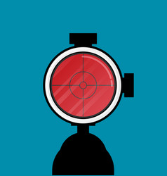 flat modern design gun icon sight vector image