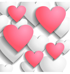 heart back pink vector image