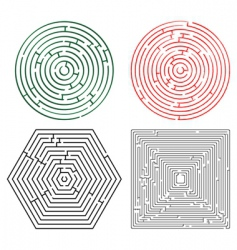 Printable mazes collection vector