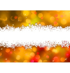 Orange christmas background with copyspace eps 10 vector