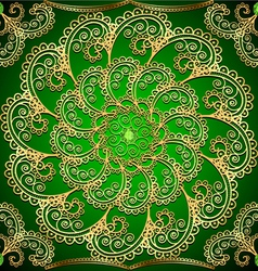 Background with gold ornaments and precious vector