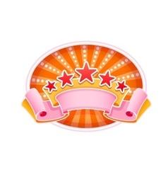 Emblem logo for show circus vector