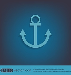 Nautical anchor anchor seafaring character icon vector