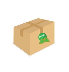 Organic icon on box vector