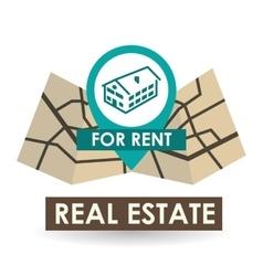 Real estate design home concept property icon vector