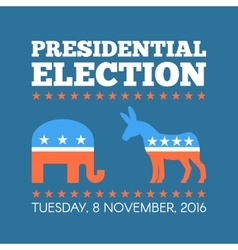 Usa presidential election day concept vector
