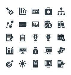 Business cool icons 4 vector