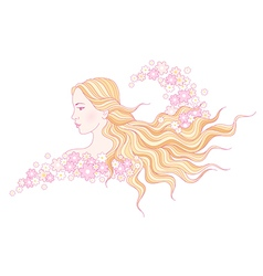Floral beauty wave vector