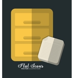 Furniture and document icon office instrument vector