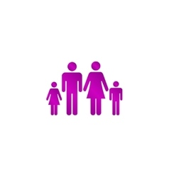 Family icon flat design style eps 10 vector