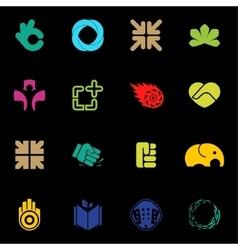 Abstract logos set Modern logo collection vector image vector image