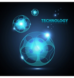 Abstract technology sphere vector image vector image