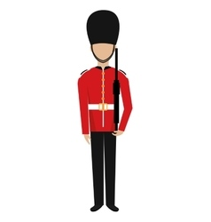 avatar british guard graphic vector image vector image