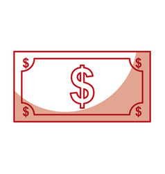 bill dollar isolated icon vector image