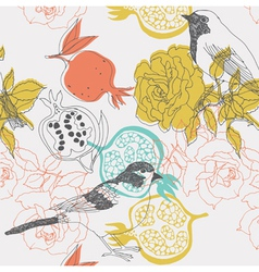 bird collage background vector image
