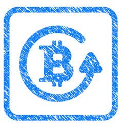 Bitcoin refund framed stamp vector