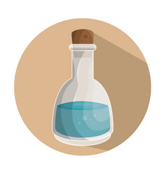 Bottle with lotion spa vector