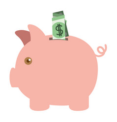 colorful silhouette of moneybox in shape of pig vector image vector image