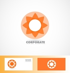 Corporate orange flower logo icon vector