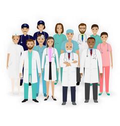 doctors nurses and paramedics characters icons vector image vector image