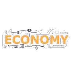 economy word desigh vector image