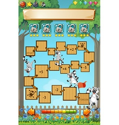 Game template with lemur in garden vector