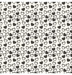 Heart shape seamless pattern vector image