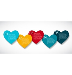 Love Infographic Templates for Business EPS vector image