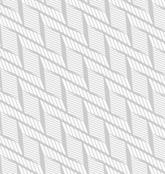 Monochrome pattern with light gray braid grid on vector image