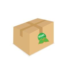 organic icon on box vector image