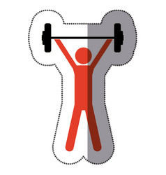 people man lifting weights icon vector image vector image