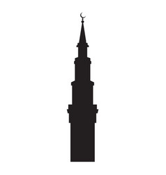 Picture of the silhouette of the mosque vector