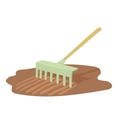 Rake icon cartoon style vector