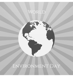 World environment day eco background template vector