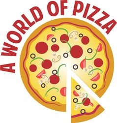 World of pizza vector