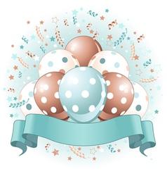 blue birthday balloons design vector image