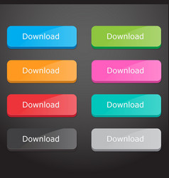 Set of download buttons vector