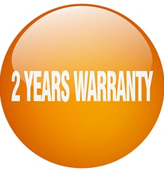 2 years warranty orange round gel isolated push vector