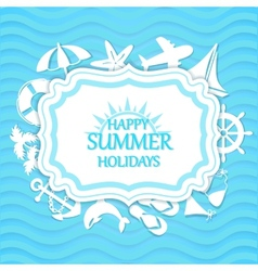 Happy summer holidays background vector