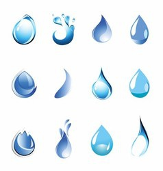 Water symbol set icon vector